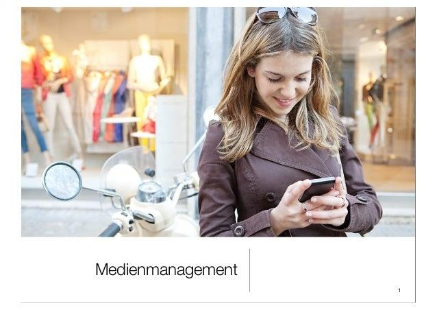 Medienmanagement 1