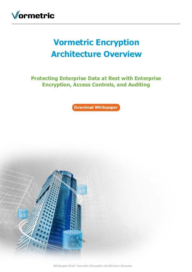 Vormetric Encryption       Architecture OverviewProtecting Enterprise Data at Rest with Enterprise    Encryption, Access C...