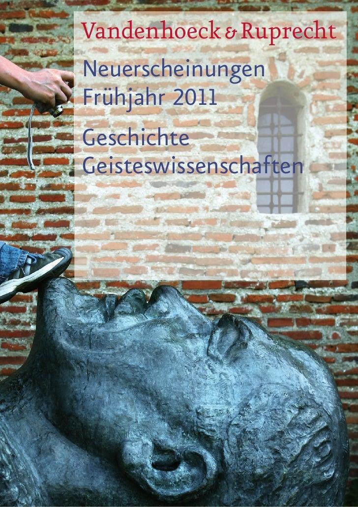 Vorschau 1 / 2011 Geisteswissenschaft