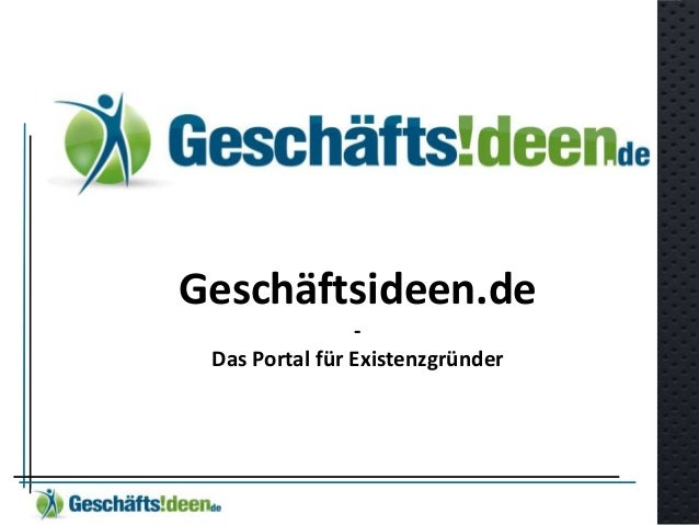 Geschäftsideen.de - Das Portal für Existenzgründer