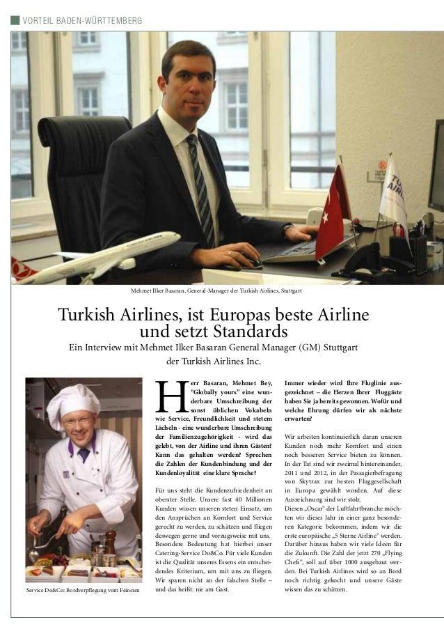 Vorteil Baden-Württemberg Turkish Airlines, ist Europas beste Airline und setzt Standards Ein Interview mit Mehmet Ilker B...