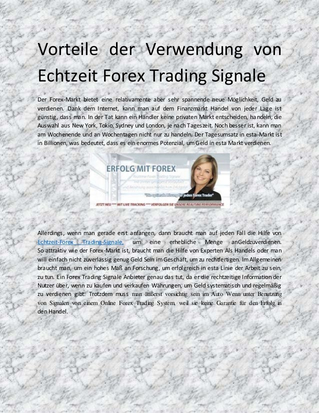 forex trading signale
