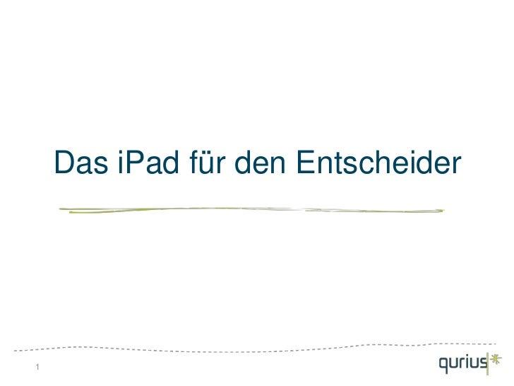 Das iPad für den Entscheider1