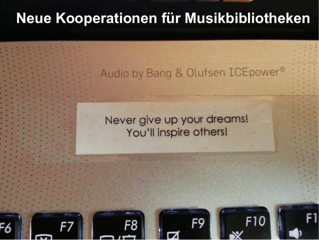 Neue Kooperationen für Musikbibliotheken