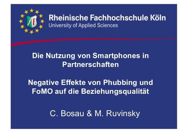 Die Nutzung von Smartphones in  Partnerschaften  Negative Effekte von Phubbing und  FoMO auf die Beziehungsqua...