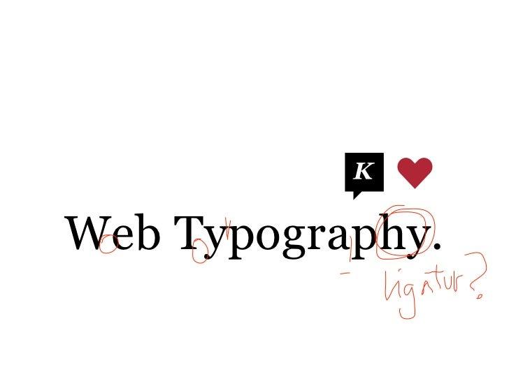 Web Typography.