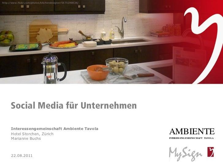 Social Media für Unternehmen der Interessengemeinschaft Ambiente Tavola