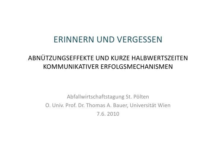 Vortrag abfallwirtschaftstagung 2010
