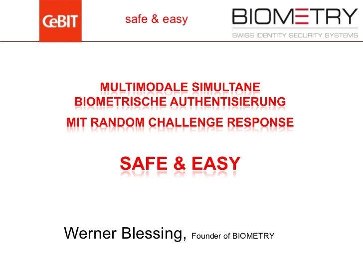 Vortrag CeBIT 2011 - Biometric Security