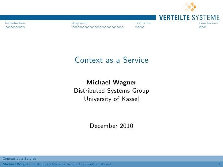 Context as a Service