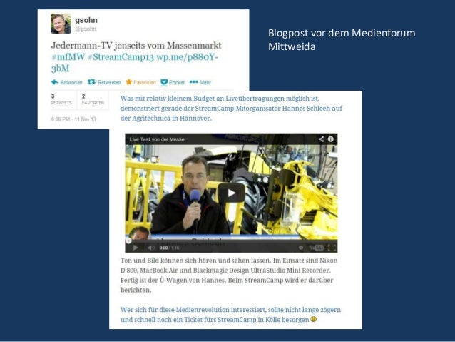 Blogpost vor dem Medienforum Mittweida