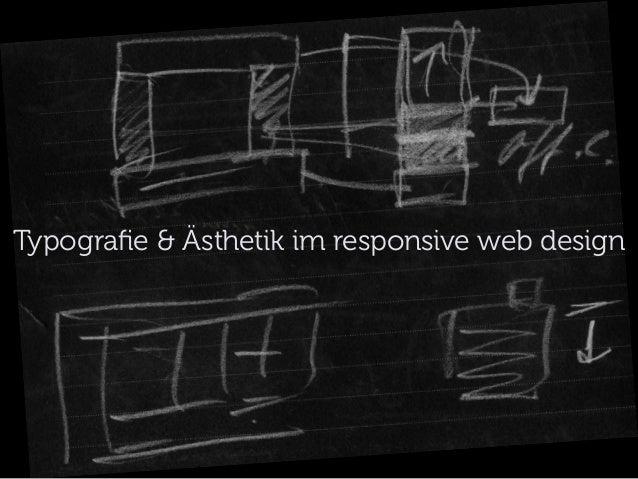Typografie & Ästhetik im responsive web design