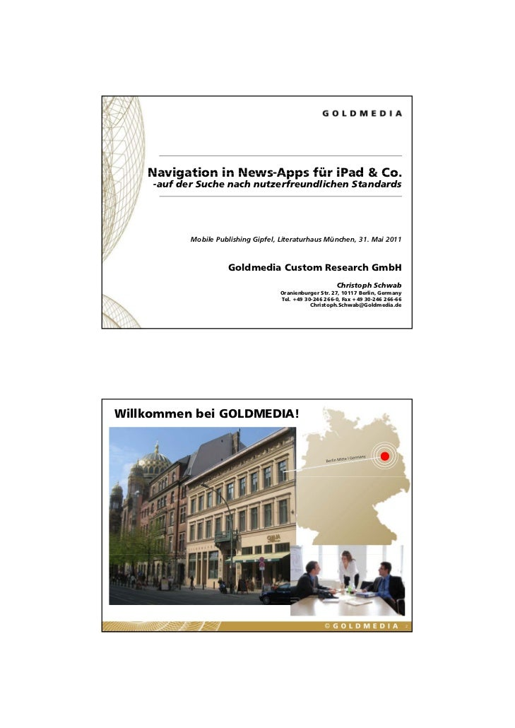 Navigation in News-Apps für iPad & Co                                       Co.     -auf der Suche nach nutzerfreundlichen...