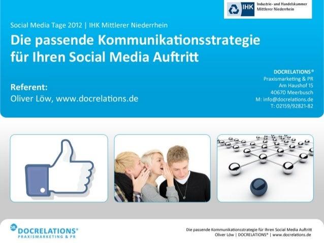 Praxismarketing 2.0 - Die passende Kommunikationsstrategie für Ihren Social-Media-Auftritt