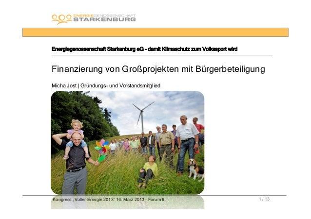 Energiegenossenschaft Starkenburg eG – damit Klimaschutz zum Volkssport wirdFinanzierung von Großprojekten mit Bürgerbetei...
