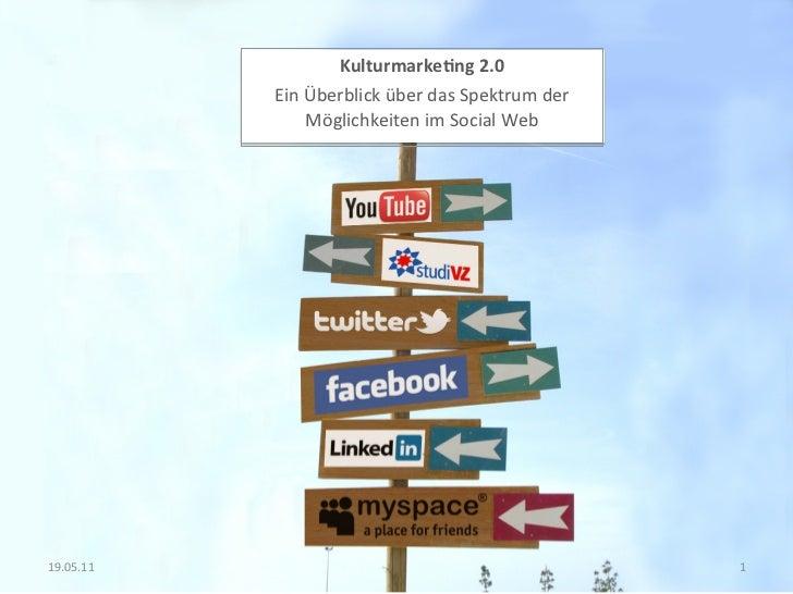 Kulturmarke*ng 2.0                 Ein Überblick über das Spektrum der                       Möglichkeit...