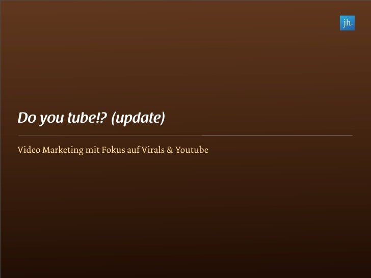 Vortrag Online Video Marketing Fokus Youtube