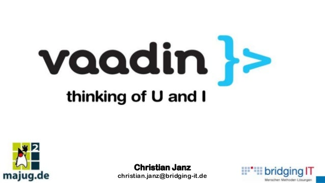 Vaadin - Thinking of U and I (MAJUG 2013)