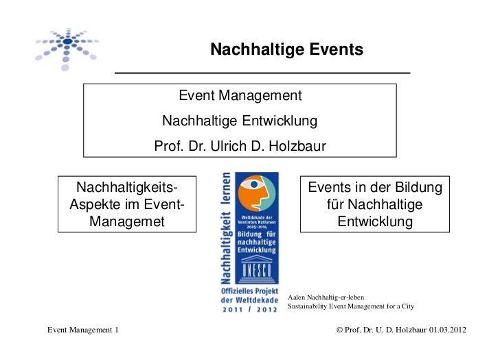 Nachhaltige Events                        Event Management                      Nachhaltige Entwicklung                   ...