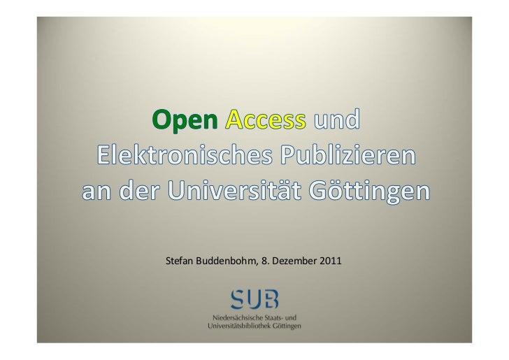 Open Access an der Universität Göttingen und die Gruppe EPU
