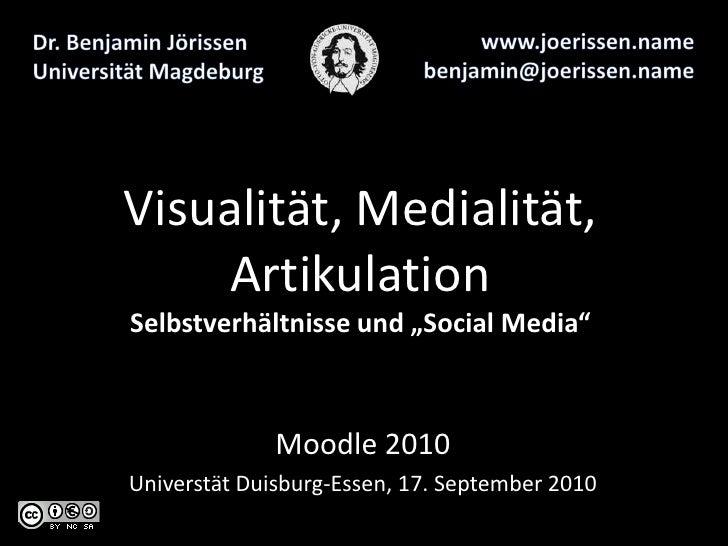 Visualität, Medialität, Artikulation