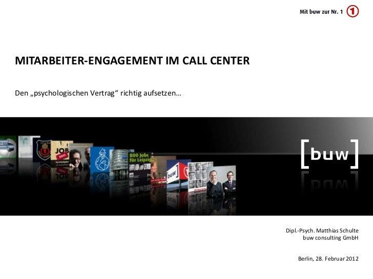 Mitarbeiter-Engagement im Call Center