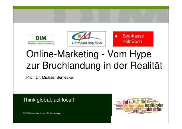 Vortrag Online-Marketing - Prof. Dr. Michael Bernecker - CityMarketing