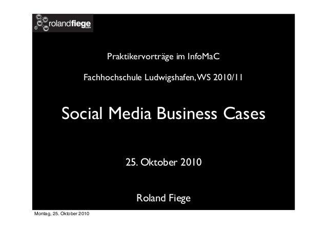 """Vortrag Roland Fiege   """"Social Media Business Cases"""""""