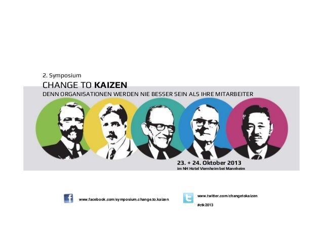 2. Symposium  CHANGE TO KAIZEN DENN ORGANISATIONEN WERDEN NIE BESSER SEIN ALS IHRE MITARBEITER  23. + 24. Oktober 2013 im ...