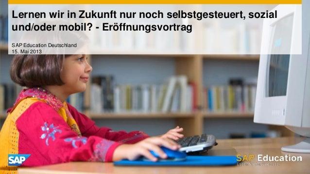 Informelle, soziale & formelle SAP Education (102070)