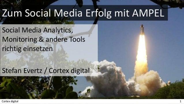 Zum Social Media Erfolg mit AMPEL Social Media Analytics, Monitoring & andere Tools richtig einsetzen Stefan Evertz / Cort...