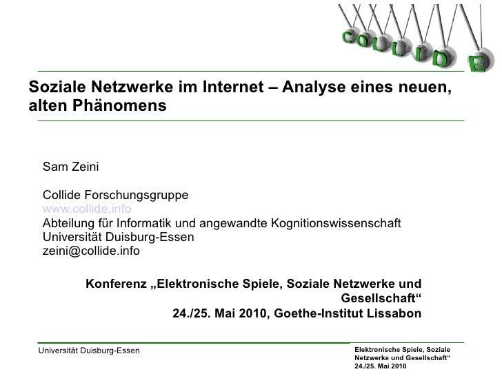 Soziale Netzwerke im Internet – Analyse eines neuen, alten Phänomens