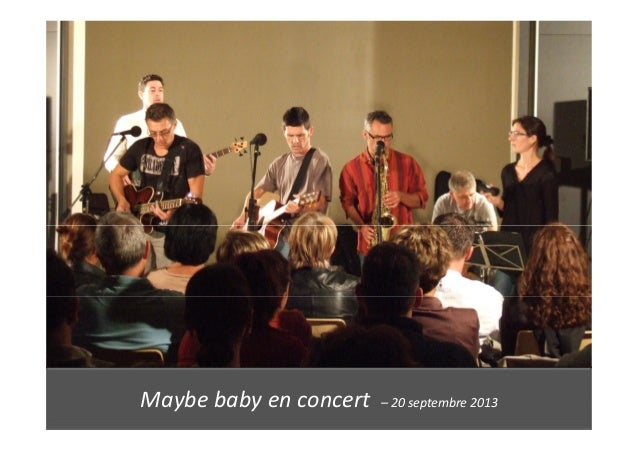 Maybe baby en concert – 20 septembre 2013