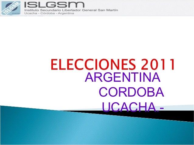 ARGENTINA CORDOBA UCACHA.-