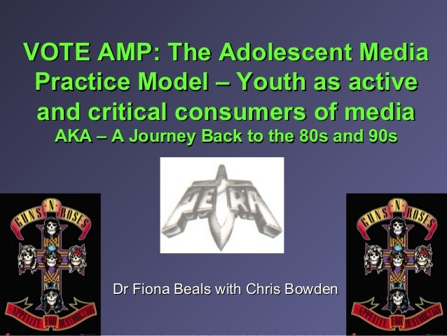 VOTE AMP: The Adolescent MediaVOTE AMP: The Adolescent Media Practice Model – Youth as activePractice Model – Youth as act...