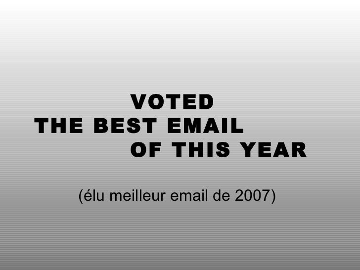 Voted best email