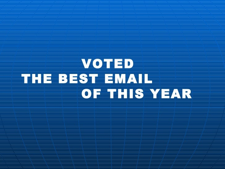 Voted the best