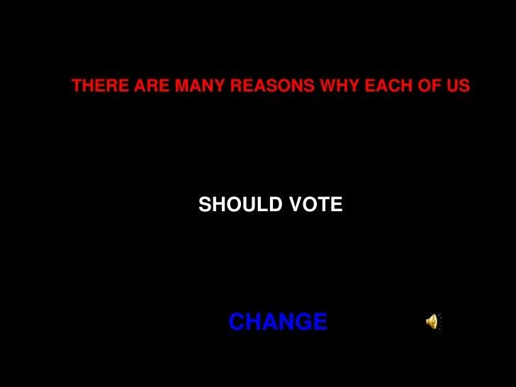 Vote On November 4