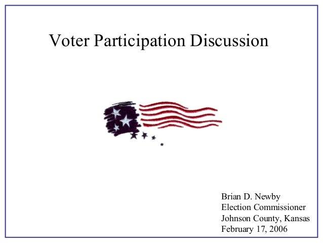 Voter Participation, Stanley Greenberg 2006