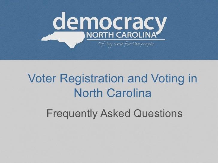 Voter registration FAQ