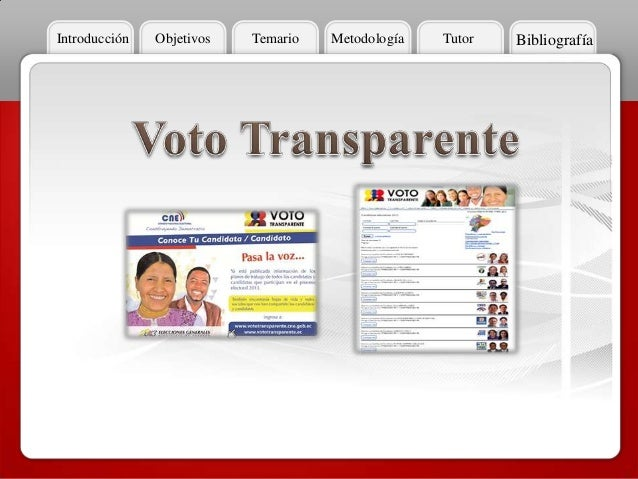 Voto transparente