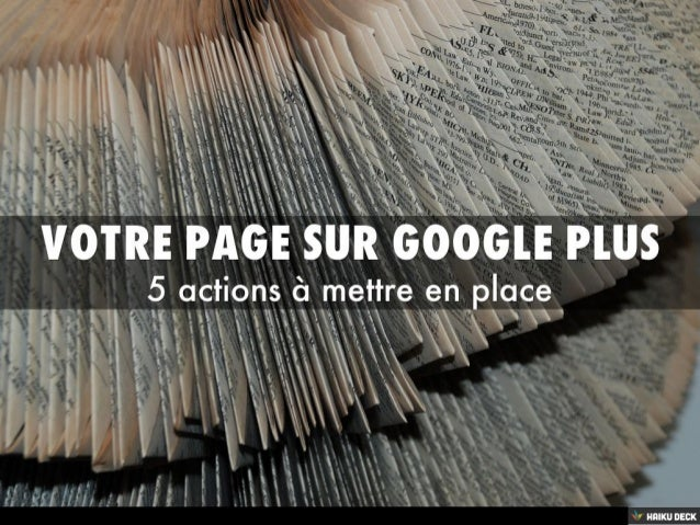 Votre page sur Google Plus