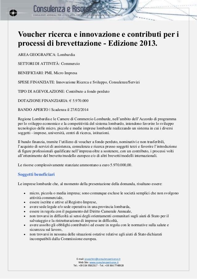 Voucher ricerca e innovazione regione lombardia