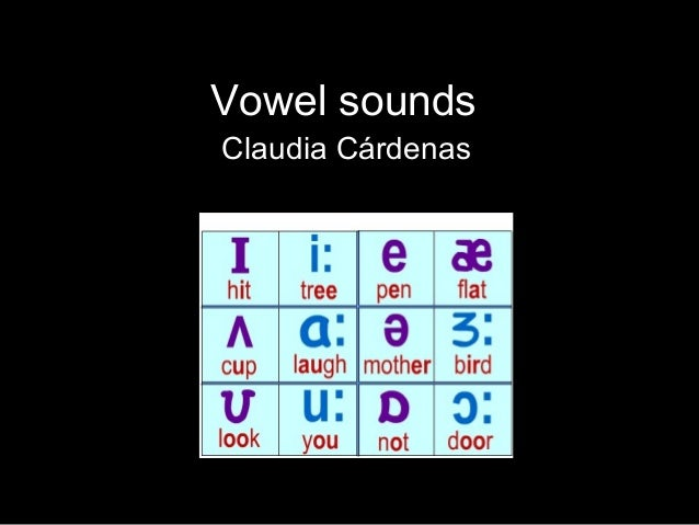 Vowel sounds Claudia Cárdenas
