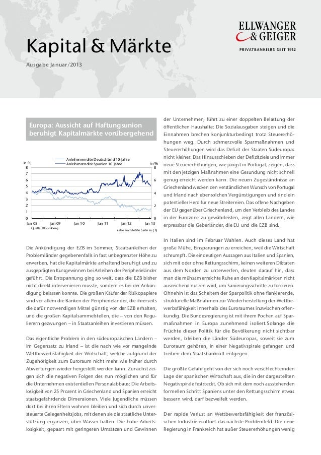 Kapital&Märkte Ausgabe Januar/2013                                                                                      ...