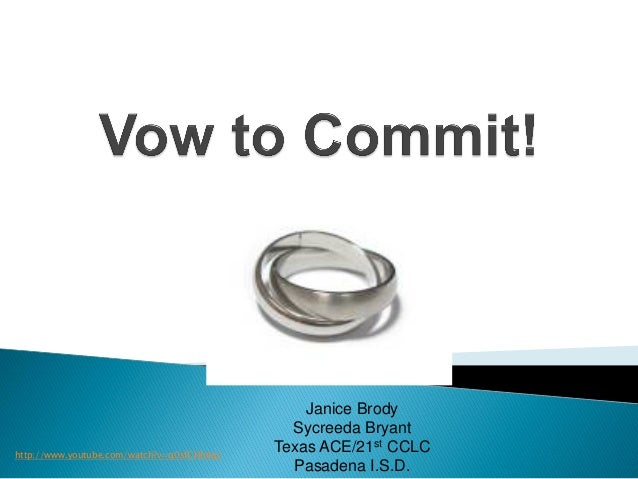 Vow To Commit