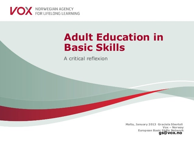 Vox   norway; european basic skills network