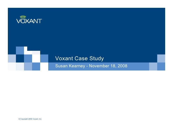 Voxant Case Study For Wit