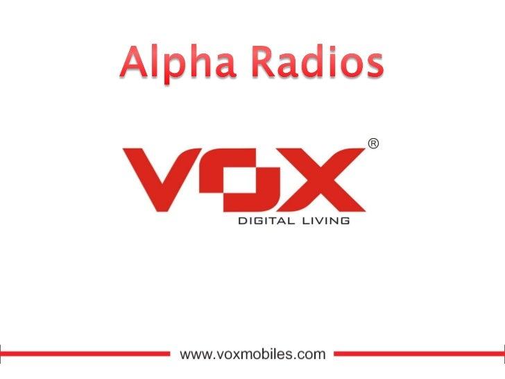 Vox mobile product_range_2010