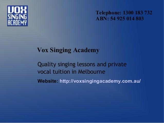 Vox singing academy   singing lessons melbourne